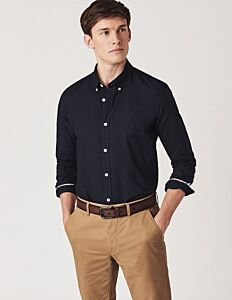 Crew Clothing Slim Oxford Shirt Navy