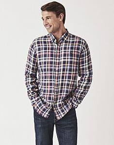 Crew Clothing Men's Glenburn Long Sleeve Linen Shirt Ink Multi