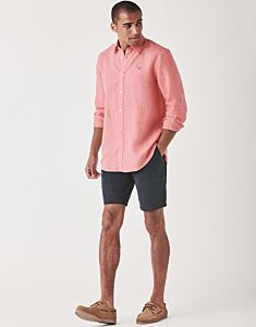 Crew Clothing Men's Classic Long Sleeve Shirt Bright Coral