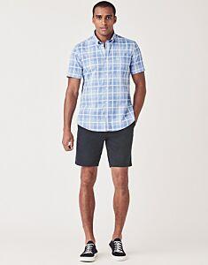 Crew Clothing Men's Damson Buffalo Shirt Amalfi Blue