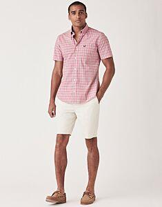 Crew Clothing Men's Ryebank Pop Check Shirt Pink