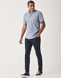 Crew Clothing Men's Ryebank Pop Check Shirt Blue