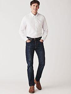 Crew Clothing Parker Straight Jeans Vintage Blue