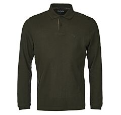 Barbour Long Sleeve Sports Polo Shirt Forest