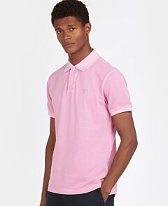 Barbour Washed Sports Polo Shirt Pink