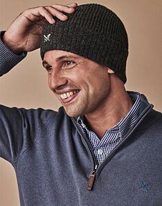 Crew Clothing Beanie Hat Grey