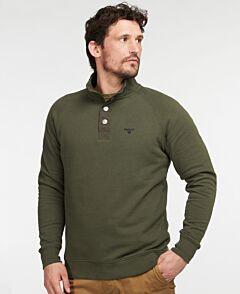 Barbour Sweater Half Zip Jumper Dark Olive