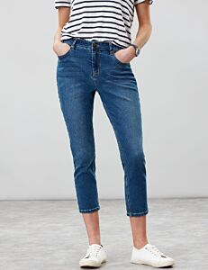Joules Monroe Cropped Skinny Stretch Jeans Mid Blue
