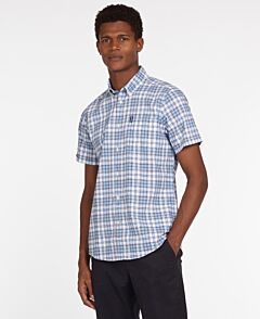 Barbour Country Check 22 Short Sleeve Shirt Blue