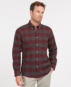 Barbour Malton Tailored Shirt Winter Red