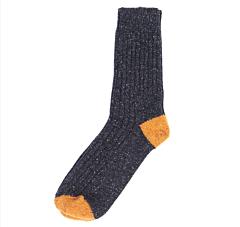 Barbour Houghton Socks Charcoal/Ochre