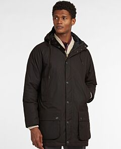 Barbour Hooded Beaufort Waxed Jacket Rustic/Winter Red
