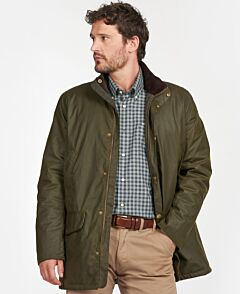 Barbour Spencer Waxed Jacket Archive Olive