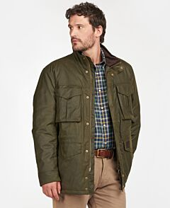 Barbour Watson Waxed Jacket Archive Olive