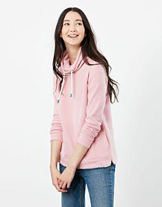 Joules Nadia Ribbed Sweatshirt Dawn Pink