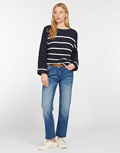 Barbour Woman's Birling Knit Jumper Navy