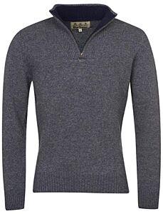 Barbour Nelson Essential Half Zip Sweater Storm Grey