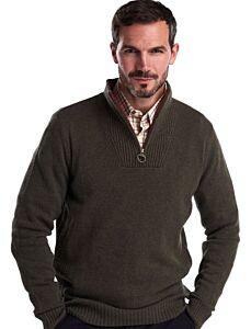 Barbour Nelson Essential Half Zip Sweater Seaweed