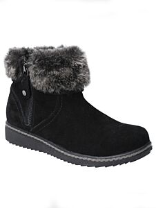 Hush Puppies Penny Zip Ankle Boot Black