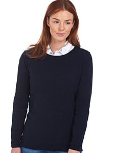 Barbour Pendle Crew Knit Sweater Navy