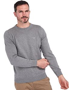 Barbour Pima Cotton Crew Neck Sweatshirt Grey