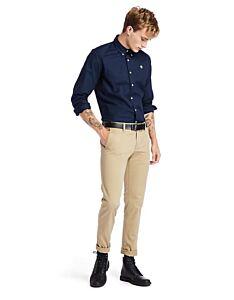 Timberland Long Sleeve Pleasant River Stretch Oxford Shirt Dark Sapphire