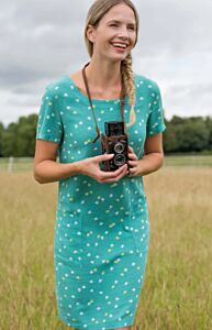 Lily and Me Pocket Dress Forget-Me-Knot Turquoise