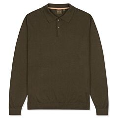 Musto Polo Collar Knit Sweater Moss