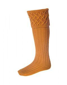 House of Cheviot Rannoch Socks Ochre