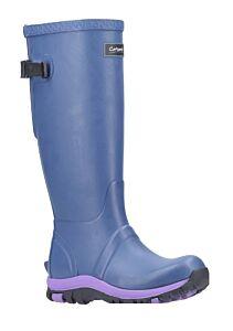 Cotswold Realm Adjustable Wellingtons Blue/Purple