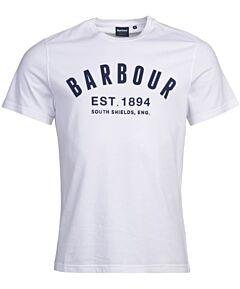 Barbour Ridge Logo Tee White