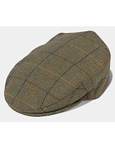 Alan Paine Rutland Tweed Flat Cap Dark Moss
