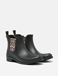 Joules Rutland Chelsea Boot with Printed Gusset Black