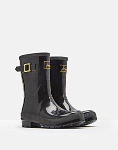 Joules Kelly Gloss Mid Height Welly True Black