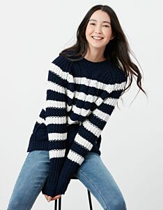 Joules Seaford Chenille Cable Jumper Navy/Cream