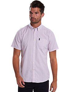 Barbour Seersucker 5 Short Sleeve Shirt Pink