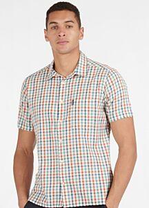 Barbour Seersucker 7 Short Sleeve Shirt Aqua