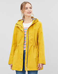 Joules Shoreside Waterproof A-Line Coat Antique Gold
