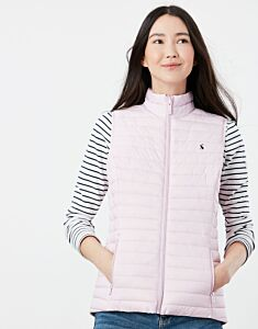Joules Snug Packable Gilet Soft Pink