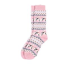 Barbour Terrier Fairisle Socks Pink