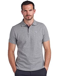 Barbour Sports Polo Shirt Grey Marl
