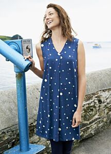 Lily and Me Anna Spot Dress Navy