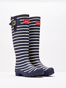 Joules Back Adjustable Printed Wellies French Navy Stripe