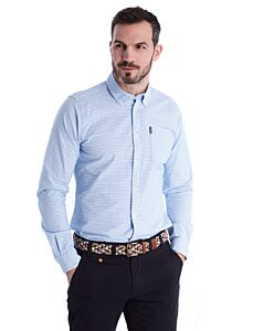 Barbour Tattersall 10 Tailored Fit Shirt Blue