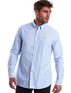 Barbour Tattersall 12 Tailored Fit Shirt Sky