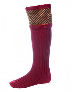 House of Cheviot Tayside Socks Brick Red