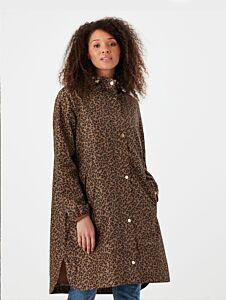 Joules Waybridge Raincoat Tan Leopard