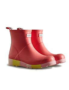 Hunter Women's Play Short Stripe Sole Boot Polaris Pink