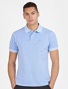Barbour Washed Sports Polo Shirt Sky Blue