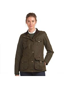 Barbour Winter Defence Waxed Cotton Jacket Olive/Classic